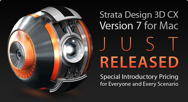Strata Design 3D CX 7 for Mac Just Released
