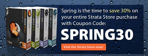 Spring is the time to save 30% on your entire Strata Store purchase with Coupon Code SPRING30