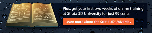 Plus, get your first two weeks of online training at Stata 3D University for just 99 cents