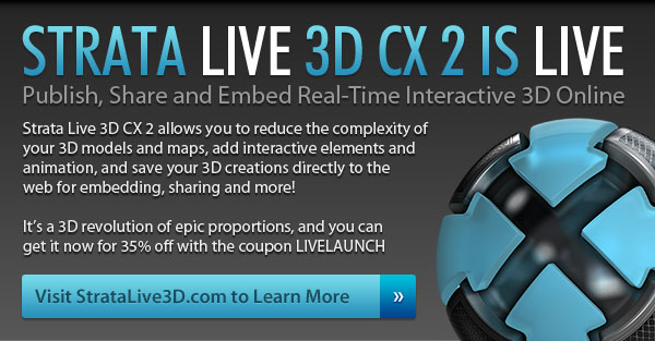 Strata Live 3D CX 2 is Live